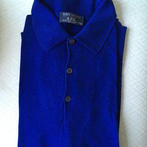 John Smedley Sea Island cotton long sleeve polo S